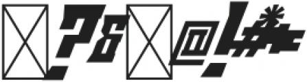 Minacious Italic otf (400) Font OTHER CHARS