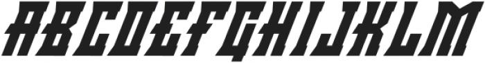 Minacious Italic otf (400) Font UPPERCASE