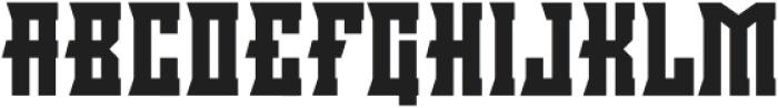 Minacious Regular otf (400) Font UPPERCASE