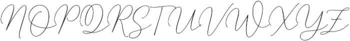 Mindline Script Bold Regular otf (700) Font UPPERCASE