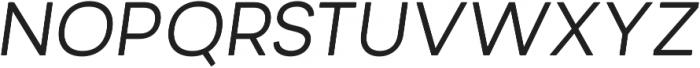 Minimo Regular Oblique otf (400) Font UPPERCASE