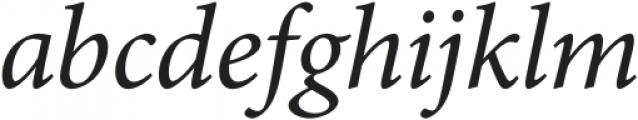 MinionPro-It otf (400) Font LOWERCASE