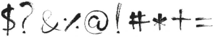 MinnesotaBrush Regular otf (400) Font OTHER CHARS