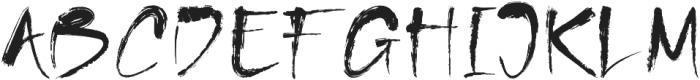 MinnesotaBrush Regular otf (400) Font UPPERCASE