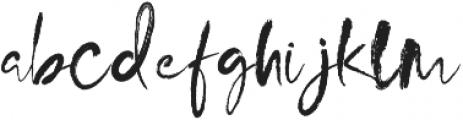 MinnesotaBrush Regular otf (400) Font LOWERCASE