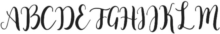 Minnie Regular otf (400) Font UPPERCASE