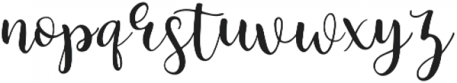 Minnie Regular otf (400) Font LOWERCASE