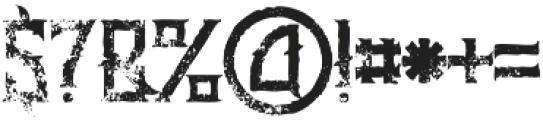 Minoru Grunge otf (400) Font OTHER CHARS