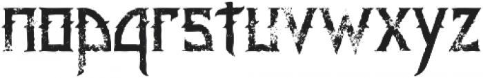 Minoru Grunge otf (400) Font LOWERCASE