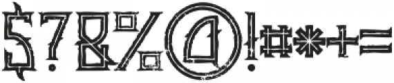 Minoru line grunge otf (400) Font OTHER CHARS