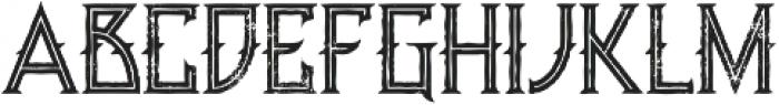 Minoru line grunge otf (400) Font UPPERCASE