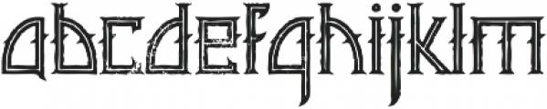 Minoru line grunge otf (400) Font LOWERCASE