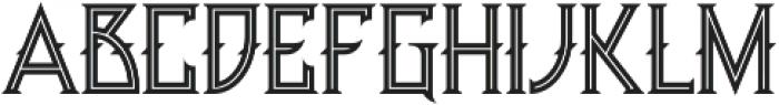 Minoru line otf (400) Font UPPERCASE
