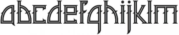 Minoru line otf (400) Font LOWERCASE