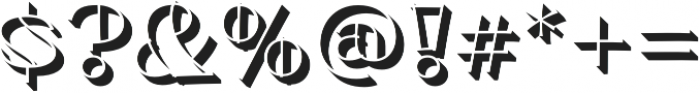 Minotte Shadow Pro Regular otf (400) Font OTHER CHARS