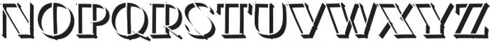 Minotte Shadow Pro Regular otf (400) Font UPPERCASE