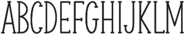 Minty March otf (400) Font UPPERCASE