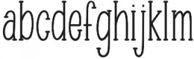 Minty March otf (400) Font LOWERCASE