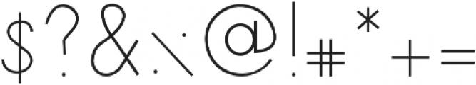 Minutia Regular otf (400) Font OTHER CHARS