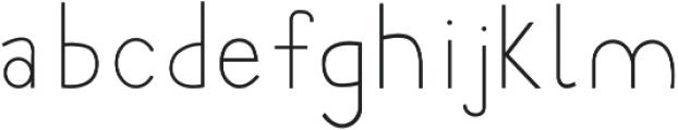 Minutia Regular otf (400) Font LOWERCASE
