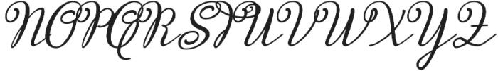 Miracella otf (400) Font UPPERCASE