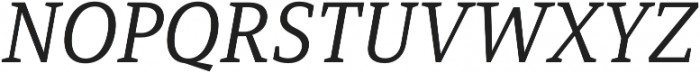 Mirantz Ext Book Italic otf (400) Font UPPERCASE