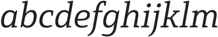 Mirantz Ext Book Italic otf (400) Font LOWERCASE
