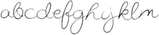 Miss Beautiful Regular otf (400) Font LOWERCASE