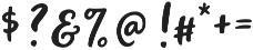 Miss Magnolia Script otf (400) Font OTHER CHARS