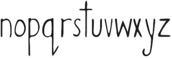 Miss Murphy Sans Script otf (400) Font LOWERCASE
