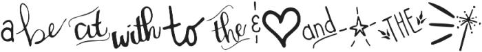 Miss Murphy Symbols Symbols otf (400) Font UPPERCASE