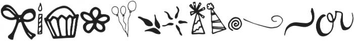 Miss Murphy Symbols Symbols otf (400) Font LOWERCASE