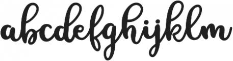 MissDaisyAlt otf (400) Font LOWERCASE