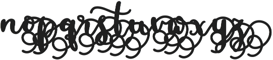 MissDaisyAlt2 otf (400) Font LOWERCASE