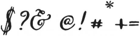 Missish Regular otf (400) Font OTHER CHARS