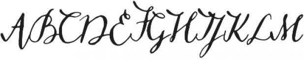 Missish Regular otf (400) Font UPPERCASE