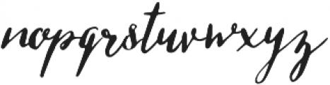 Missish Regular otf (400) Font LOWERCASE