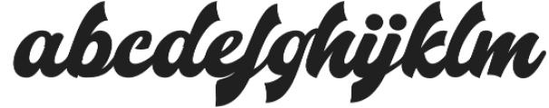 Mistery Regular otf (400) Font LOWERCASE