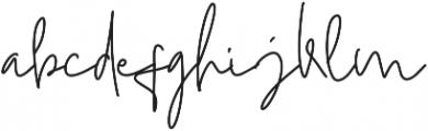 Mistice Regular otf (400) Font LOWERCASE