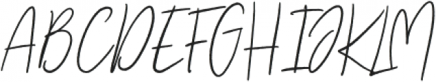 Mistique Touch Regular otf (400) Font UPPERCASE