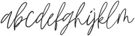 Mistique Touch Regular otf (400) Font LOWERCASE