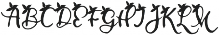 Mistletoe Regular otf (400) Font UPPERCASE