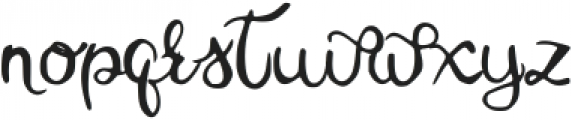 Mistletoe Regular otf (400) Font LOWERCASE