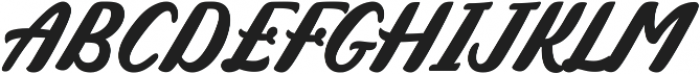 Mistroling otf (400) Font UPPERCASE