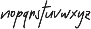 Misty Whisper ttf (400) Font LOWERCASE