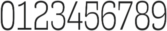 Mitigate Light otf (300) Font OTHER CHARS