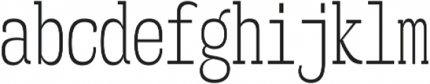 Mitigate Light otf (300) Font LOWERCASE