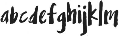 Mix Grungy Regular otf (400) Font LOWERCASE
