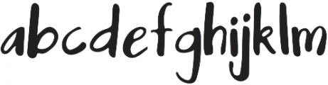 Mix Maybe Regular otf (400) Font LOWERCASE