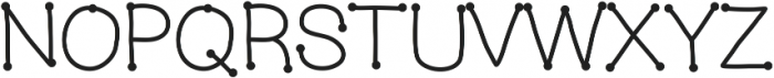 MixConnectDots ttf (400) Font UPPERCASE